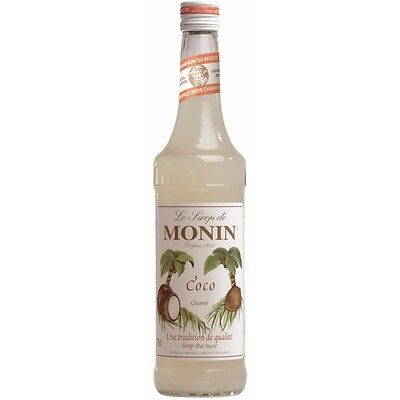Monin Coconut Syrup Cocktail Fruit Flavoured Non Alcoholic Drink Bottle