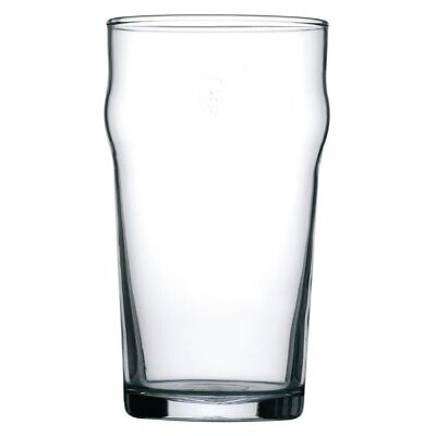 48x Arcoroc Nonic Nucleated Beer Glasses 560ml Cocktail Wine Drinking Tumblers