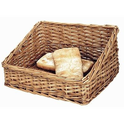 Bread Display Basket 170x 360x 300mm Wicker Storage Hamper Trays Serving