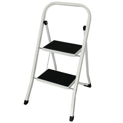 Vogue 2 Tread Folding Step Stool Portable Compartment Foldable Ladder Kitchen