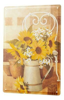 Tin Sign Wall Decor Adventurer Painting Sunflower chamomile  Metal Plate