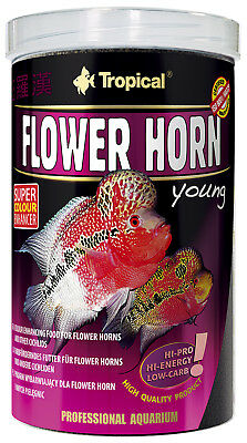 Tropical Flower Horn YOUNG Pellett Fischfutter junger FLOWER HORNS 1 l