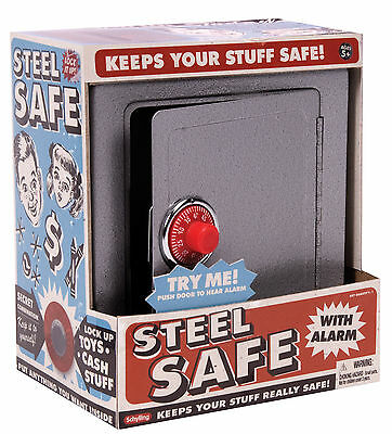 Schylling Steel Safe With Alarm Piggy Bank Money Box For All Ages