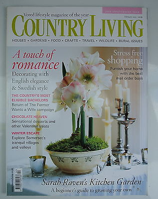 Country Living Magazine. February, 2005. Issue No. 230. A touch of romance.