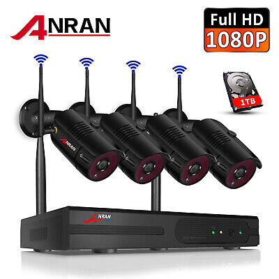 ANRAN 4Ch 720P NVR Wireless IP Network Kit Outdoor Home Security Camera System