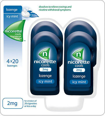 Nicorette Cools 2mg Lozenge - Icy Mint (80)
