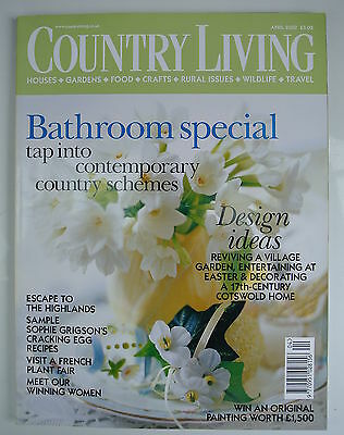 Country Living Magazine. April, 2003. Issue No. 208. Bathroom special. Tap into