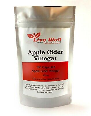 Live Well Apple Cider Vinegar Capsules,weight loss,cholesterol. Free UK post