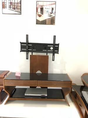 """Modern Wooden Veneer Universal TV Stand with Bracket for 32"""" - 65"""" TV's + Glass"""