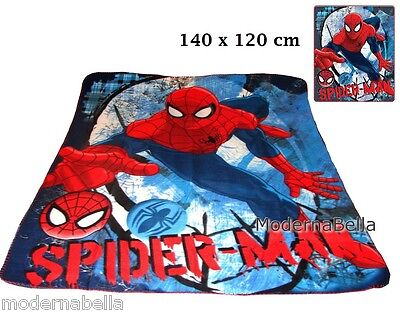 Spiderman Coperta copertina in Pile Plaid Lenzuolo 140x120 originale bimbo