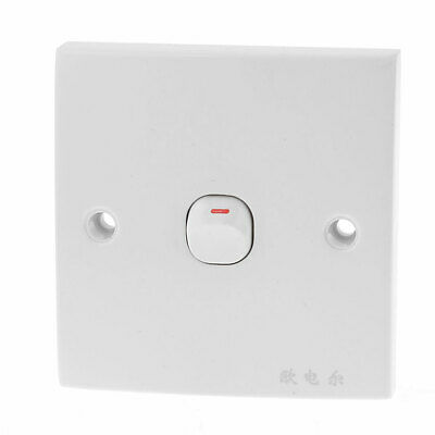 Household Office Square One Gang On/Off Light Wall Switch Plate 250V 10A