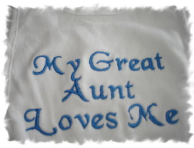 My Great Aunt Loves Me Baby Bib