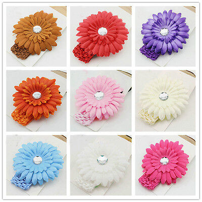 10pcs Girl Baby Toddler Infant Daisy Flower Headband Hair Band Pearl Accessories