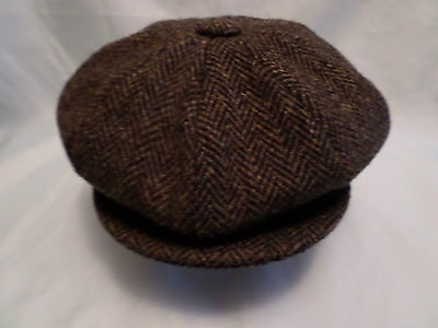 gents Scottish harris tweed 100% wool newsboy cabbie cap direct from SCOTLAND
