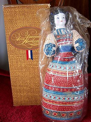 Avon American Heirloom Collection Porcelain Head Doll Vintage '81 Mint N Box 11""