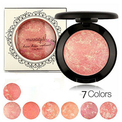 New Cosmetic Makeup Baked Blush Palette Baked Cheek Color Blushers Beauty Powder