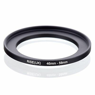 RISE(UK) 46mm-58mm 46-58 mm 46 to 58 Step Up Ring Filter Adapter black