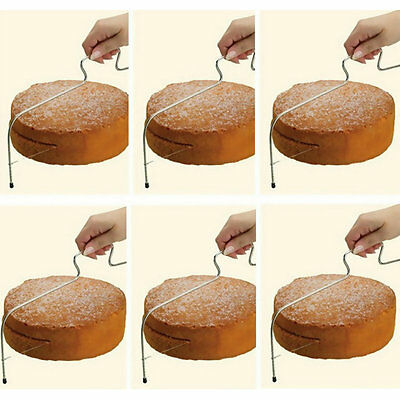 Adjustable Wire Cake Slicer Cutter Leveller Decorating Bread Wire Decor Tool OV