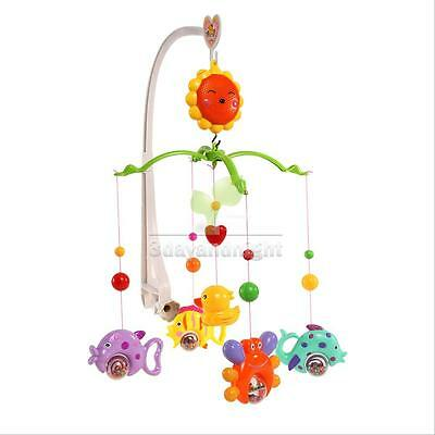 Safety Baby Crib Bell Mobile Wind-up Music Box Cute Bed Toy Cartoon Gift Nursery