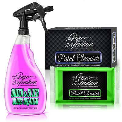 Clay Bar and Quick Detailer Kit  | Car Detailing Claybar Kit -Pure Definition ®