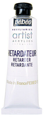 Pebeo Artist Acrylics Auxiliaries Retarder 37ml Tube -  Slow Drying Time Medium