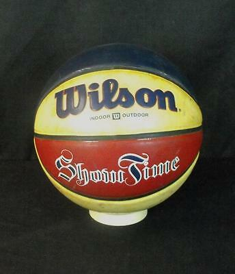 Vintage 1980s red white and blue Wilson indoor outdoor showtime basketball!