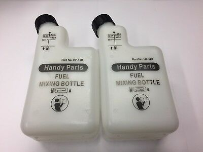 Two X 2 Stroke Petrol Fuel Mixer Bottles Ideal For Stihl Husqvarna Etc