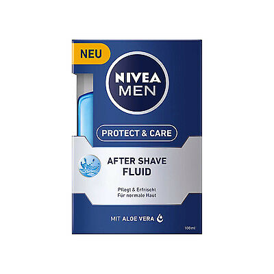 100ml Nivea Men Protect & Care After Shave Fluid Shaving Care refreshes aloe