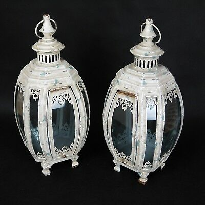 1  Rustic Table Lantern Shabby Chic Distressed Reproduction decoration wedding