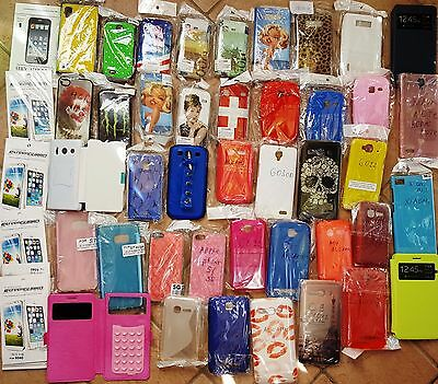 STOCK INGROSSO DI ALCATEL,apple,Samsung COVER CASE CUSTODIE 41 pcs+pellicole
