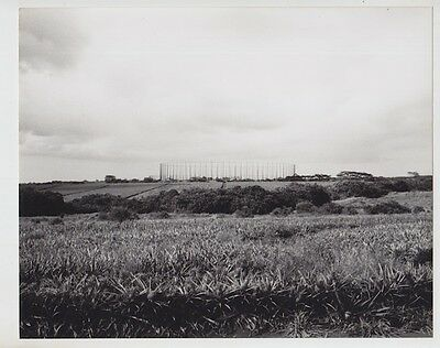 """Helemano Antenna Array 1981 Hand Printed Silver Halide Photograph On 8X10"""" Mat"""