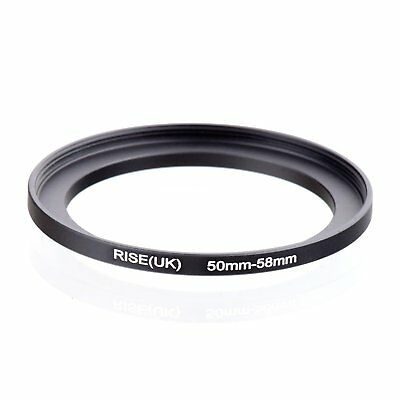 RISE(UK) 50mm-58mm 50-58 mm 50 to 58 Step Up Ring Filter Adapter black