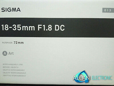 Neu Sigma 18-35mm f/1.8 F1.8 DC HSM A Lens for Canon