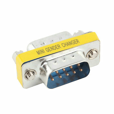 9 Pin RS-232 DB9 Male to Male Serial Cable Gender Changer Coupler Adapter CC