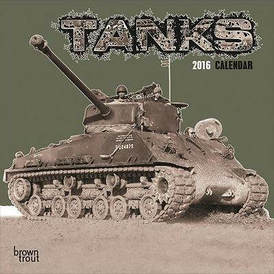 Tanks 2016 Uk Square Wall Calendar New And Factory Sealed Sale !! Sale !!