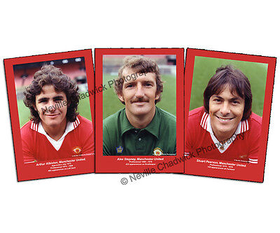 """Manchester United, Players of the 70's Collection Portraits, 7""""x 5"""" prints"""