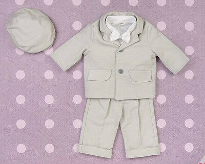 Baby Boy Christening Baptism Smart Suit Outfit Wedding Grey Corduroy 6 9 12 18 M