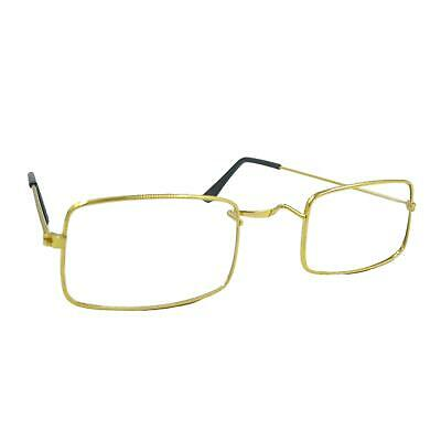 Mens Harry Santa Wizard Fancy Dress Steampunk Half Moon Frame Spectacles Glasses