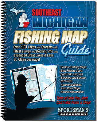 Southeast Michigan Fishing Map Guide - Sportsman's Connection | 7502