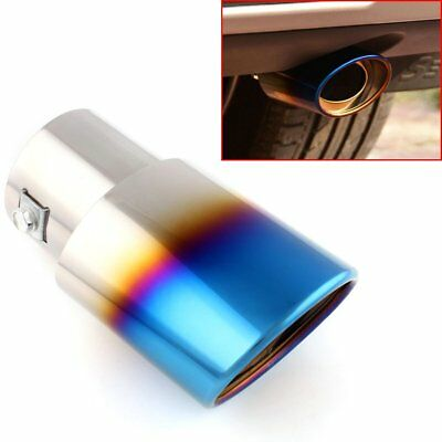 1 x Universal Car Exhaust Muffler Stainless Steel Tail Pipe Chrome Trim Tip