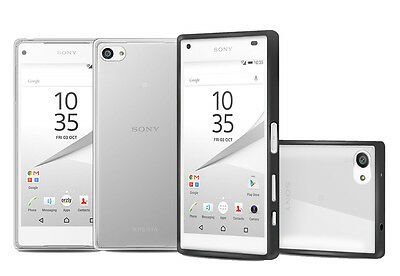 Orzly® Fusion Bumper Case With Clear Back For Sony Xperia Z5 Compact