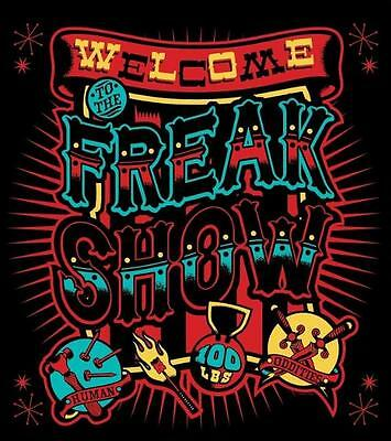 Gothic Sourpuss Welcome to the Freak Show Bathroom Shower Curtain Polyester