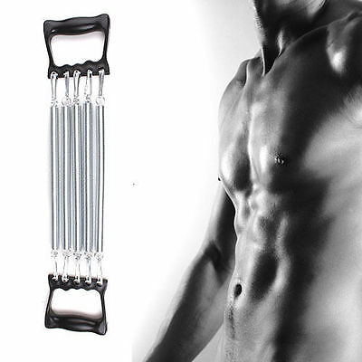 5 Spring Adjustable Chest Pull Expander Fitness Strength Puller Muscle Gym