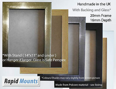 Picture & Photo Frame, Various colours with Stand / Hanger. 20mm Frame