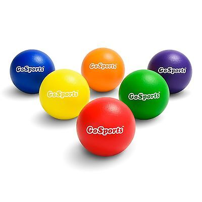 GoSports Official Dodgeballs 6 Pack with Carry Bag