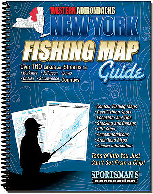 Western Adirondacks New York Fishing Map Guide - Sportsman's Connection | 8005