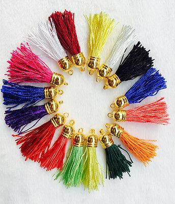 5PCs Tassel Pendants Polyester Trim Mixed Craft Applique Jewelry Making DIY
