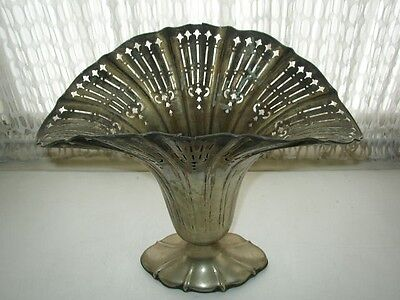 Rare, Sheffield Reproduction, NS & CO. no. 511, Large Silver Plated Fan Vase