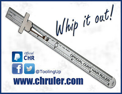 Official C*nt Hair Ruler - Bush Pack (6 Rulers)  -  Precision Ruler - Machinist