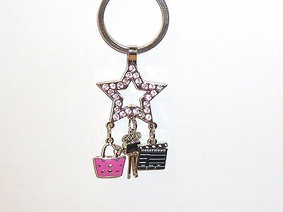 """BEVERLY HILLS LETTER /""""H/"""" GLITTER SOUVENIR KEYCHAIN 4/"""" BY 1.5/"""" VERY CUTE NEW"""
